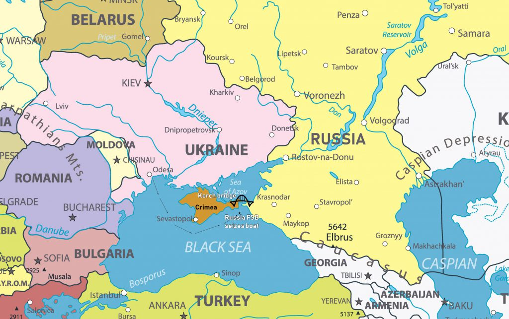 Image showing map of Crimea and Surrounding countries.
