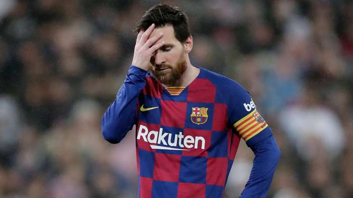 Dissapointed Messi